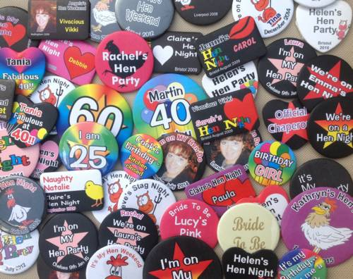 personalised badges next day delivery