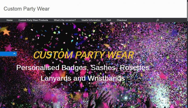 Custom Party Wear