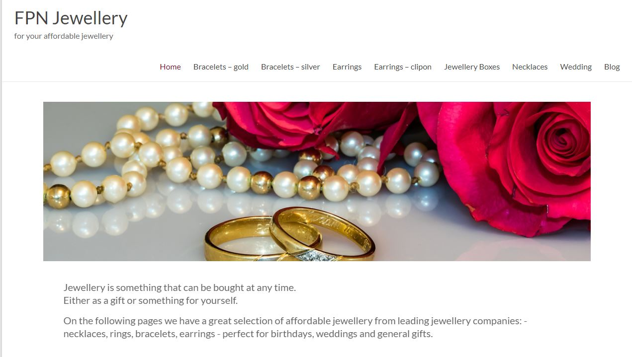 FPN Jewellery - rings, necklaces, bracelets and earrings