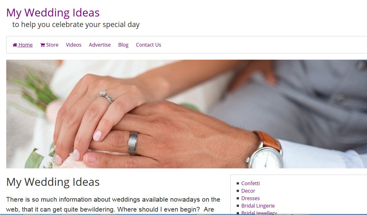 Ideas for the wedding and recption